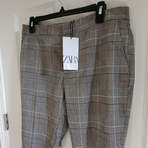🆕️ ZARA GRAY PLAID WOMENS SLACK